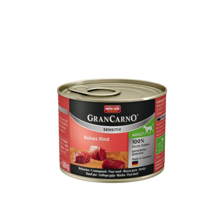 Animonda Dog Gran Carno Sensitiv Adult Reines Rind 200 g