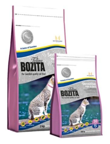 Bozita Feline Sensitive Hair & Skin 400 g, 2 kg oder 10 kg (SPARTIPP: unsere Staffelpreise)