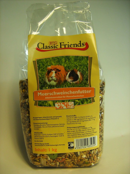 Classic Friends Meerschweinchenfutter 25 kg