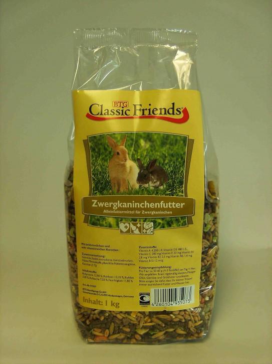 Classic Friends Zwergkaninchenfutter 3 kg oder 25 kg