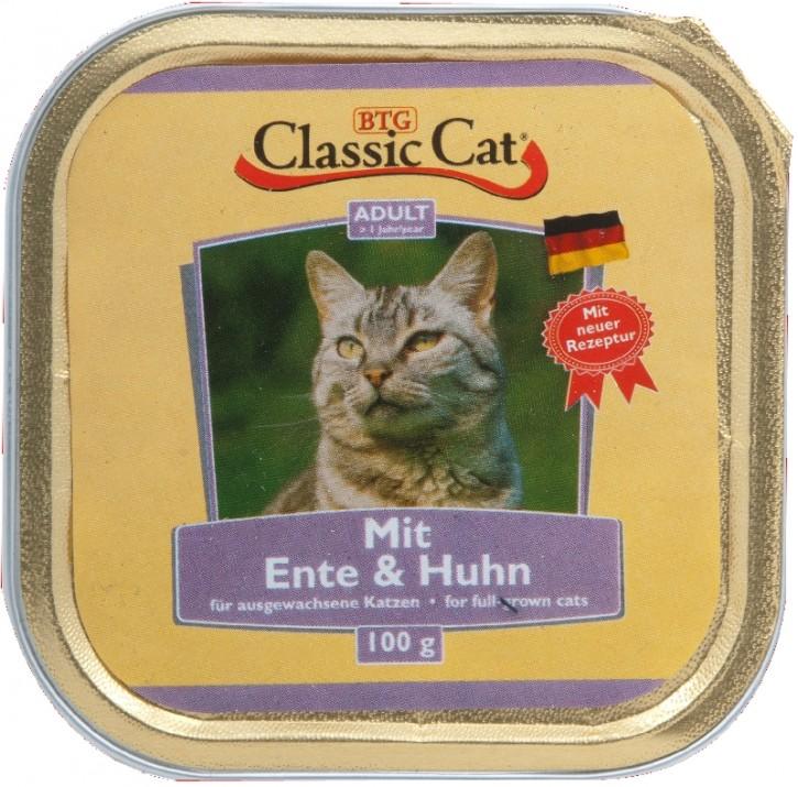 Classic Cat mit Ente und Huhn 30 x 100 g
