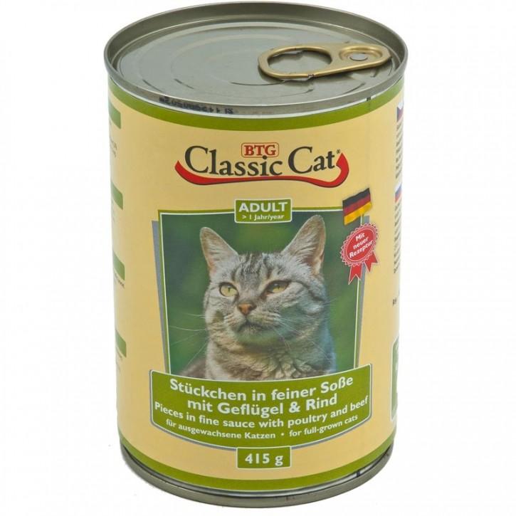 Classic Cat mit Geflügel und Rind 415 g