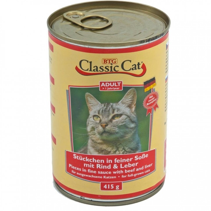 Classic Cat mit Rind und Leber 415 g