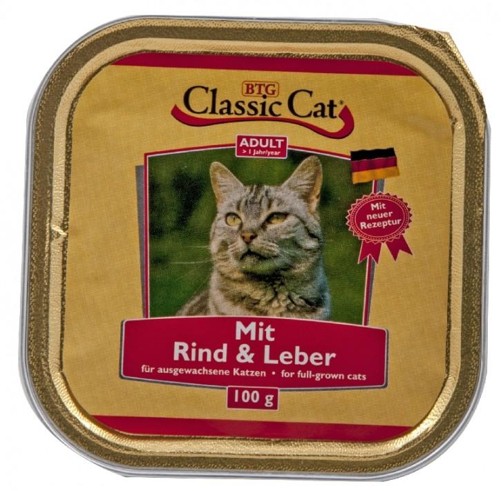 Classic Cat mit Rind und Leber 30 x 100 g