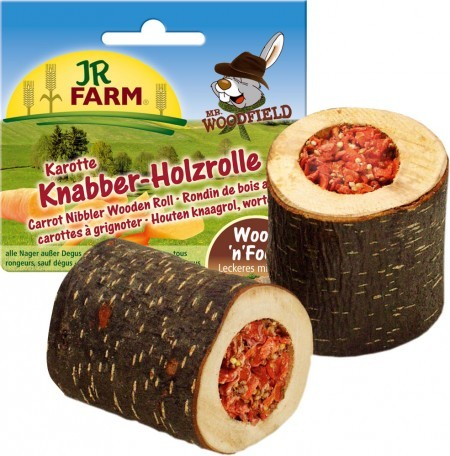 JR Farm Mr. Woodfield Knabber Holzrolle mit Karotten 5 x 150 g