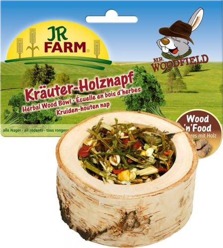 JR Farm Mr. Woodfield Kräuter Holznapf 6 x 120 g