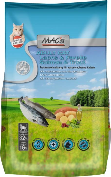 MACs Cat Adult Lachs & Forelle 1,5 kg oder 7 kg (SPARTIPP: unsere Staffelpreise)