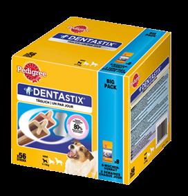 Pedigree Snack Dentastix Big Pack für junge & kleine Hunde 56 Stück