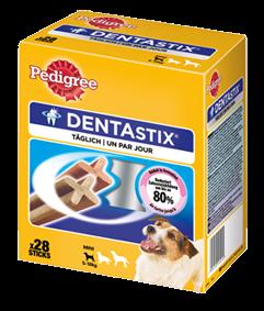 Pedigree Snack Dentastix Multipack für junge & kleine Hunde 4 x 28 Stück