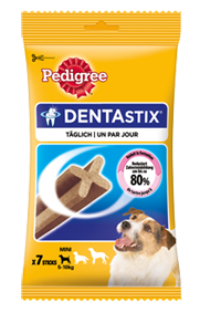Pedigree Snack Dentastix für junge & kleine Hunde 10 x 7 Stück