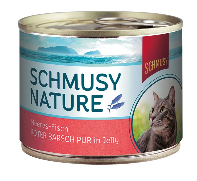 Schmusy Nature Meeresfisch Roter Barsch pur in Jelly 12 x 185 g