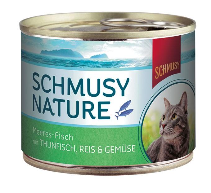 Schmusy Nature Meeresfisch Thunfisch, Reis & Gemüse 12 x 185 g