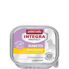 Animonda Cat Integra Protect Diabetes Adult mit Hühnchenleber 16 x 100 g
