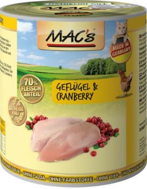 Macs Cat Geflügel & Cranberry 800 g
