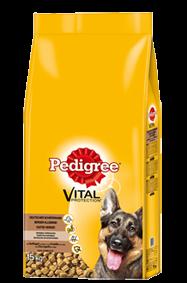 Pedigree Vital Protection Deutscher Schäferhund mit Geflügel und Reis 4 x 15 kg (Staffelpreis)