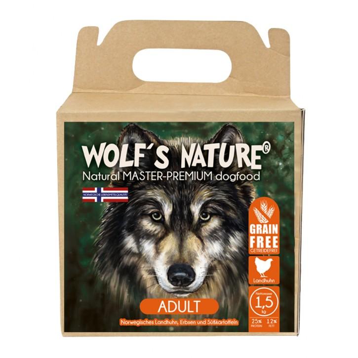 Wolfs Nature Adult Landhuhn 1,3 kg, 8 kg oder 20 kg