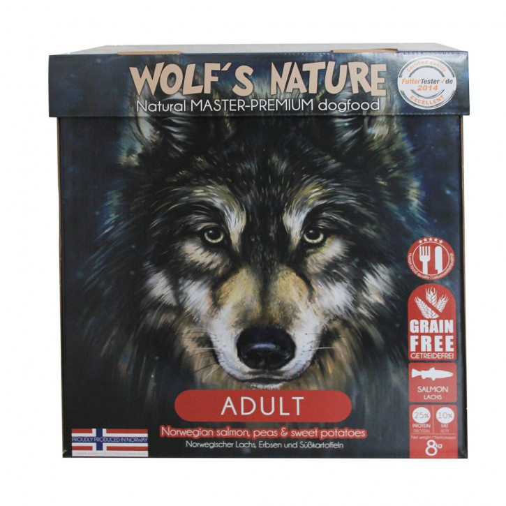 Wolfs Nature Adult Lachs 8 kg
