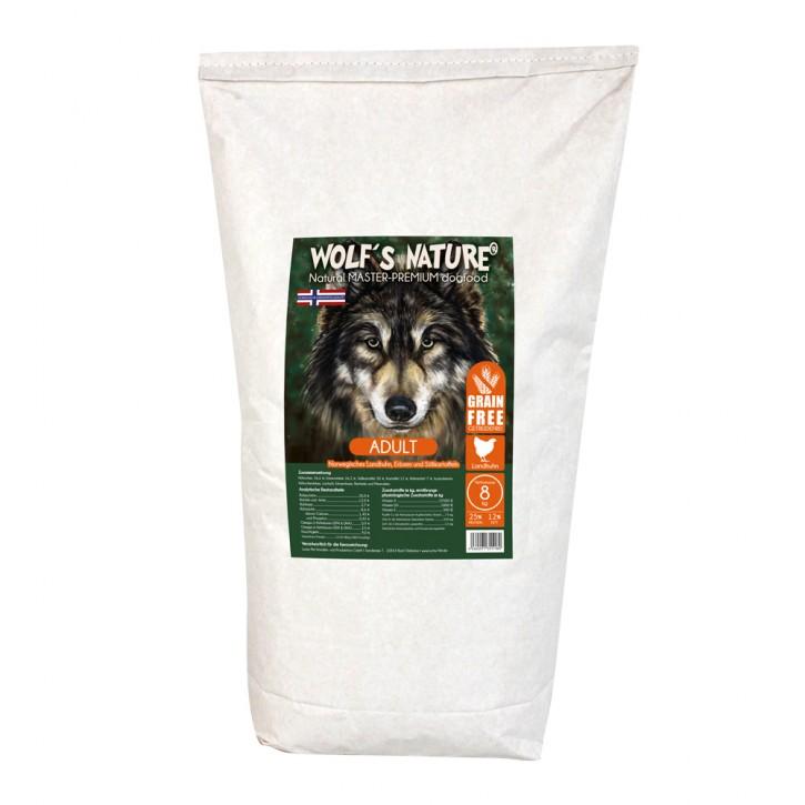 Wolfs Nature Adult Landhuhn 8 kg