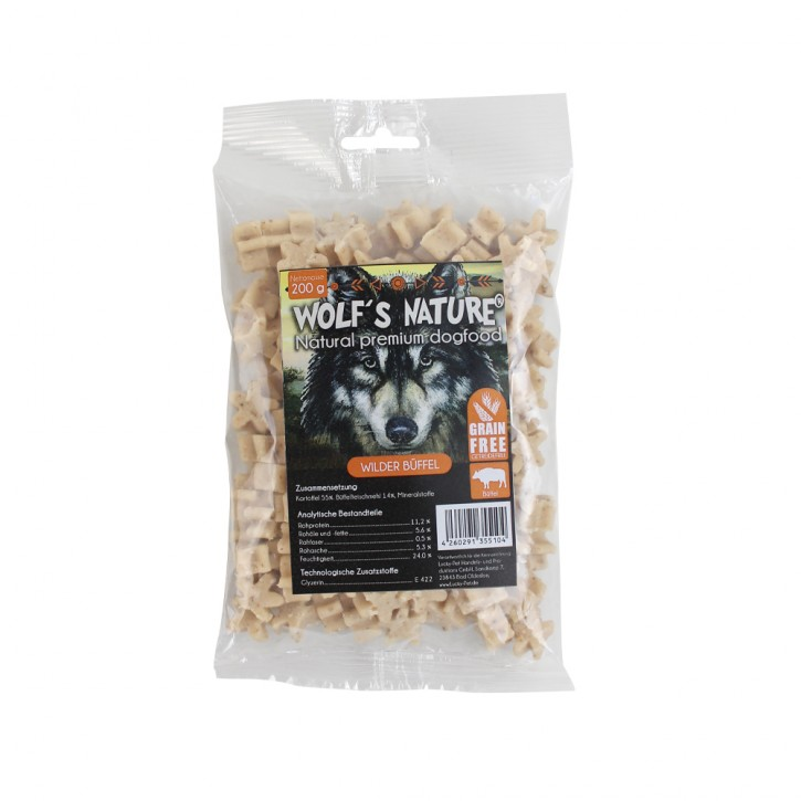 Wolfs Nature Dog Kartoffelsofties Wilder Büffel 12 x 200 g