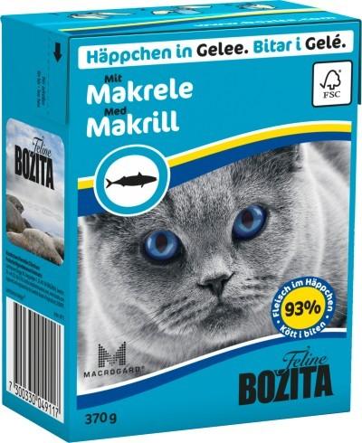 Bozita Cat Häppchen in Gelee mit Makrele 16 x 370 g