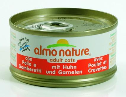 Almo Nature Huhn mit Garnelen 24 x 70 g