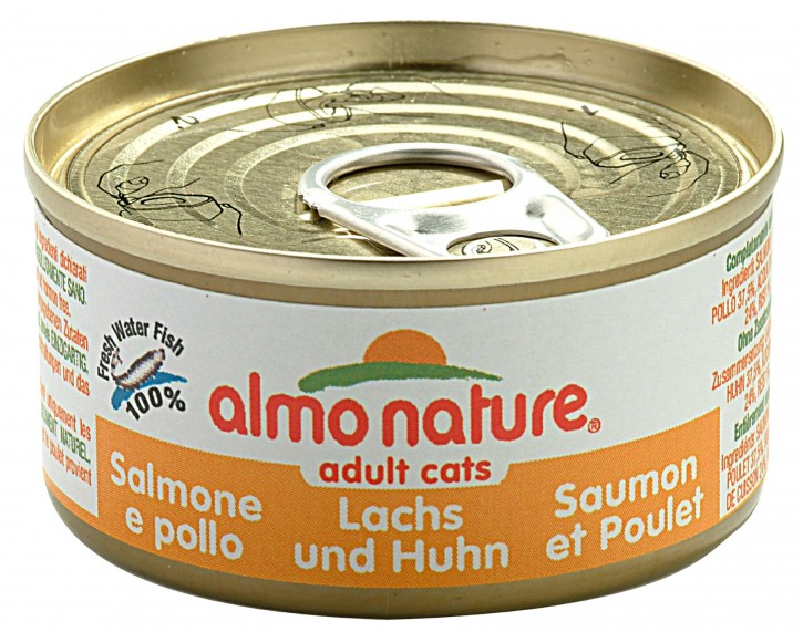 Almo Nature Lachs und Huhn 24 x 70 g