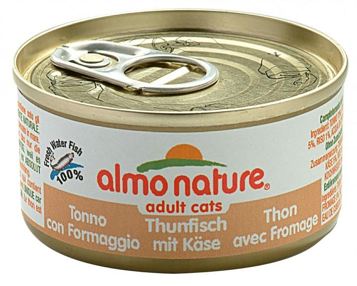 Almo Nature Thunfisch, Huhn mit Käse 24 x 70 g