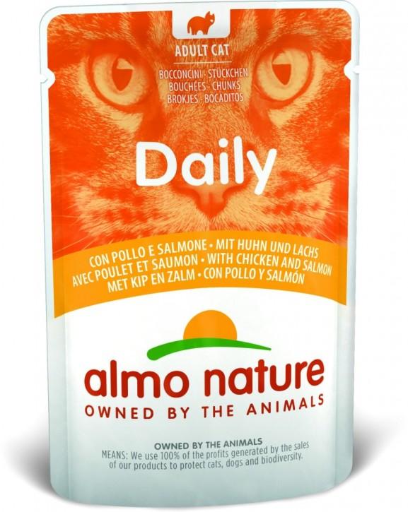 Almo Nature Daily Menu mit Huhn und Lachs 30 x 70 g