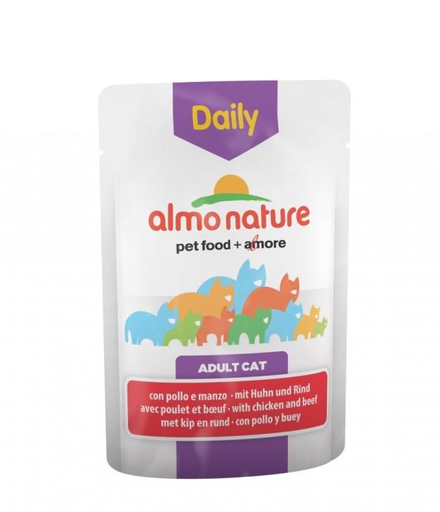 Almo Nature Daily Menu mit Huhn und Rind 30 x 70 g