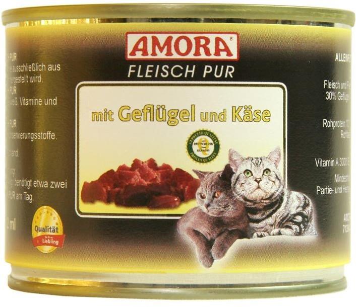 Amora Cat Fleisch Pur Adult mit Geflügel & Käse 200 g oder 400 g