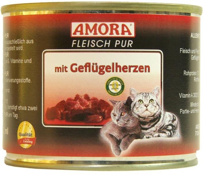 Amora Cat Fleisch Pur Adult mit Geflügelherzen 200 g oder 400 g