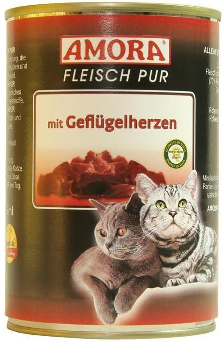 Amora Cat Fleisch Pur Adult mit Geflügelherzen 6 x 400 g