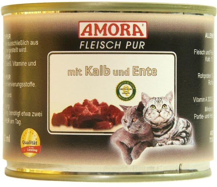 Amora Cat Fleisch Pur Adult mit Kalb & Ente 200 g oder 400 g