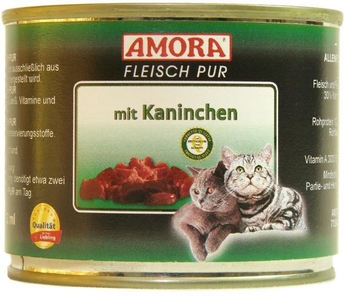 Amora Cat Fleisch Pur Adult mit Kaninchen 200 g oder 400 g