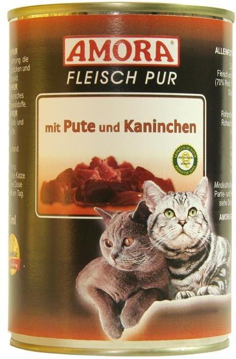 Amora Cat Fleisch Pur Adult mit Pute & Kaninchen 400 g