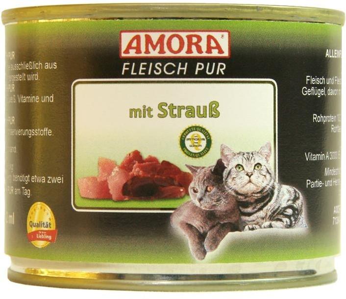 Amora Cat Fleisch Pur Adult mit Strauß 200 g oder 400 g