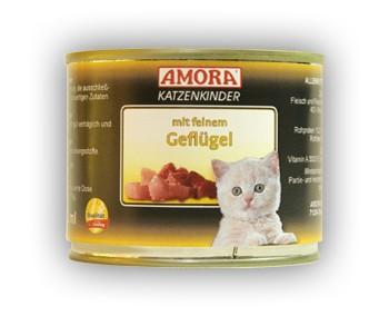 Amora Cat Fleisch pur Katzenkinder mit feinem Geflügel 200 g