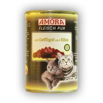 Amora Cat Fleisch pur mit Geflügel und Käse 400 g