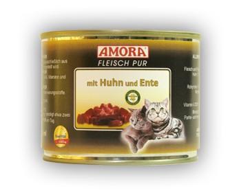 Amora Cat Fleisch pur mit Huhn und Ente 200 g