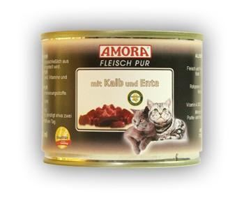 Amora Cat Fleisch pur mit Kalb und Ente 200 g