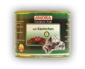 Amora Cat Fleisch pur mit Kaninchen 200 g