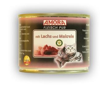 Amora Cat Fleisch pur mit Lachs und Makrele 200 g