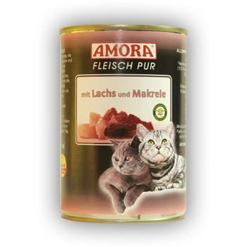 Amora Cat Fleisch pur mit Lachs und Makrele 400 g