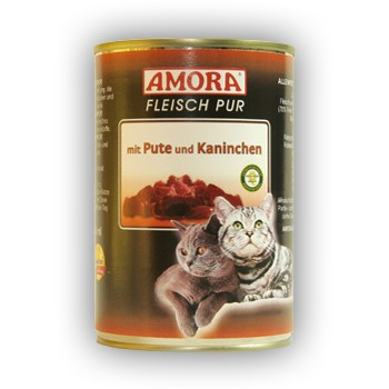 Amora Cat Fleisch pur mit Pute und Kaninchen 400 g
