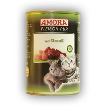 Amora Cat Fleisch pur mit Strauß 400 g