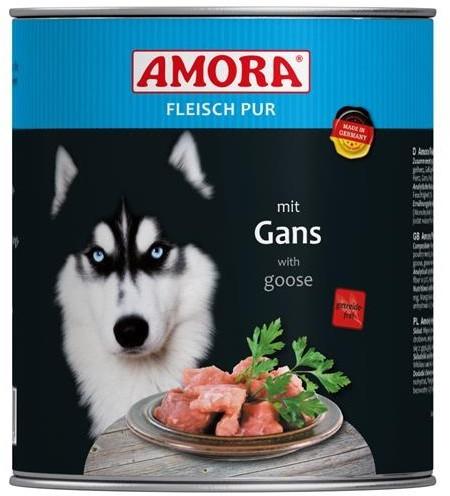 Amora Dog Fleisch Pur Adult mit Gans 6 x 800 g