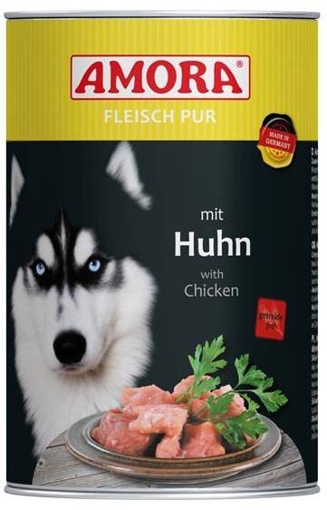 Amora Dog Fleisch Pur Adult mit Huhn 400 g oder 800 g