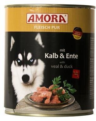 Amora Dog Fleisch Pur Adult mit Kalb & Ente 6 x 800 g