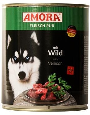 Amora Dog Fleisch Pur Adult mit Wild 400 g oder 800 g