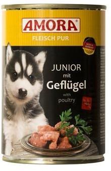 Amora Dog Fleisch Pur Junior mit Geflügel 400 g